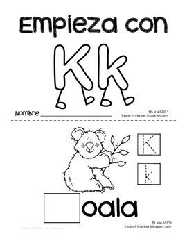 Empieza con Kk {Cut & Paste Emergent Reader}
