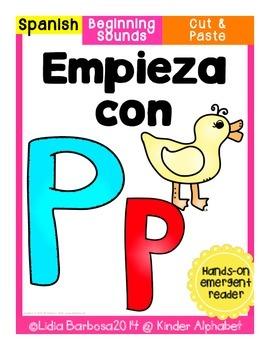 Empieza con Pp {Cut & Paste Emergent Reader}