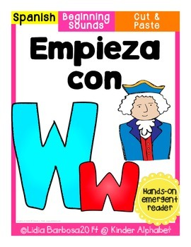 Empieza con Ww {Cut & Paste Emergent Reader}