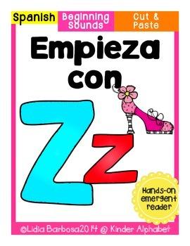 Empieza con Zz {Cut & Paste Emergent Reader}
