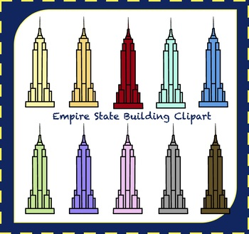 Empire State Building Clipart / New York City Clipart / Travel Clipart