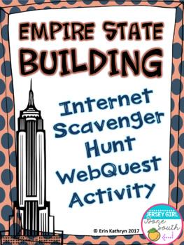 Empire State Building Internet Scavenger Hunt WebQuest Activity