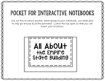 Empire State Building Research Project Brochure Template, Geography, History
