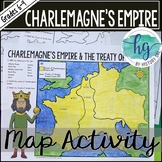 Empire of Charlemagne and Treaty of Verdun Map Activity (P