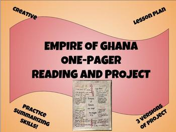 Empire of Ghana One-Pager (Reading & Project Assessment)