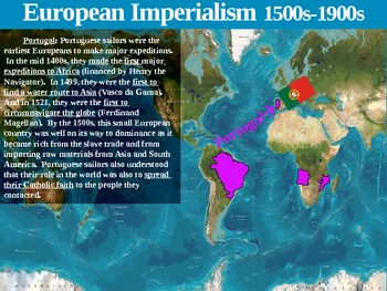 Empires and Colonies of Europe: Map Activity (visual, interactive, informative)