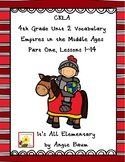 Empires of the Middle Ages Vocabulary Cards | CKLA Unit 2 Grade 4 Supplement