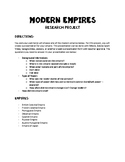 Empires of the World Research Project
