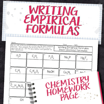 Empirical formula from chemical formula chemistry homework worksheet thecheapjerseys Image collections