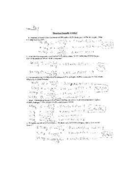 empirical formulas practice worksheet by mj teachers pay teachers. Black Bedroom Furniture Sets. Home Design Ideas