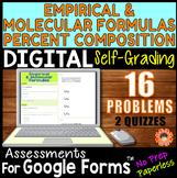 Empirical/Molecular Formulas & % Composition ~ Self-Gradin
