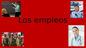 Empleos Trabajos Spanish Professions Power Point PPT