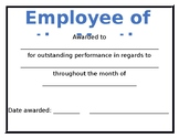 Employee of the Month Award Template