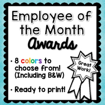 Employee of the Month Awards
