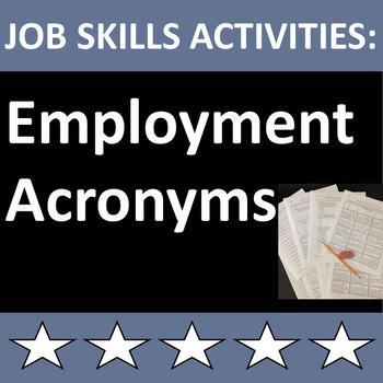 Job Skills Activities Employment Acronyms