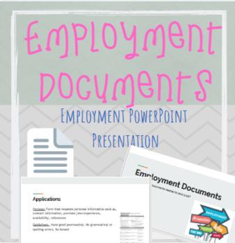 Employment Documents  Powerpoint Presentation