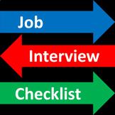 Job Interview Checklist - Free