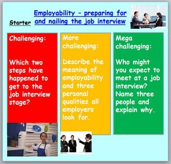 Employment - Job Interviews and Preparation (1hr PP, works