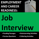 Employment & Career Readiness: Job Interview Activities