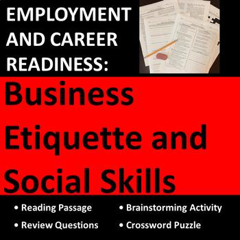 Employment & Career Readiness: Workplace Business Etiquett