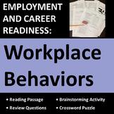 Employment & Career Readiness: Workplace Behaviors Activities