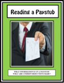 Employment, READING A PAYSTUB AND PAYCHECK, Vocational, Career Readiness