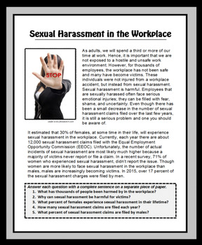 Sexual Harassment In The Workplace Canada