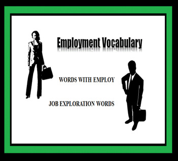 Employment Vocabulary, Career Readiness