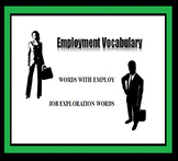 Career Readiness Worksheet - Employment Vocabulary - Career Exploration