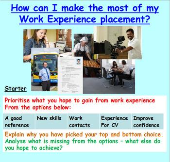 Employment: Work Experience