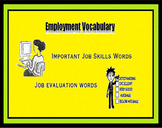 Career Exploration - Employment Worksheets, JOB SKILLS and JOB EVALUATION