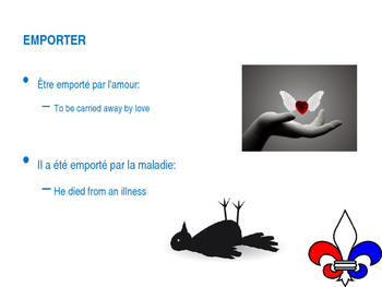 Emporter (to bring, to take away, to carry away) - modifiable PowerPoint