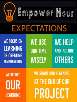 Empower Hour Expectations Poster