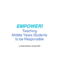 Empower Program: Teaching Students to be Self-Responsible