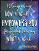 Empowered Thinking Galaxy Classroom Poster