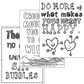 Empowering Quote Coloring Pages: CBT Inspired