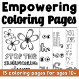 Empowering Quote Coloring Pages: CBT Inspired Pep Talk! (B