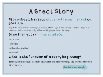 Empowering Writers - How to write a great beginning to a narrative story