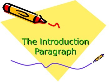 Empowering Writers Introduction Paragraph PowerPoint