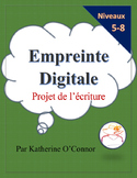 Empreinte digitale - writing activity for French classes