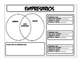 Empresarios Graphic Organizer Unit 05 Mexican National Era