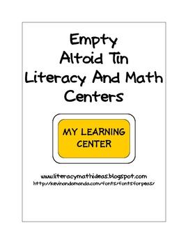 Empty Altoid Tin Centers