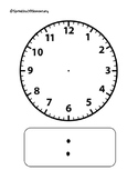 Blank Analog/Digital Clock