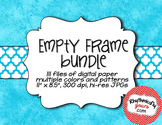 Empty Frame - Rainbow Patterns Bundle