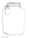 Empty Jar with a Tag