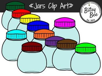 Empty Jars Clip Art.