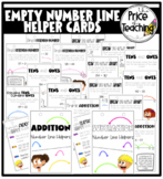 Empty Number Line Strategy Cards for Addition and Subtraction