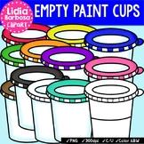Empty Paint Cups {Clip Art for Teachers}