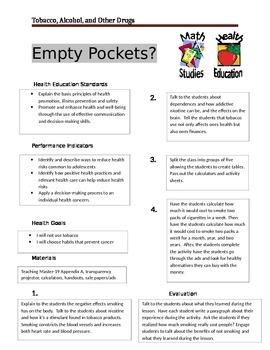 Empty Pockets ( Anti-Smoking) (Math Cross Curricular)