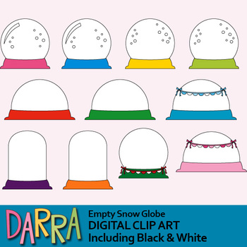 Empty Snow Globes Clip Art